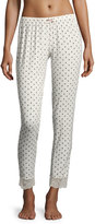 Eberjey Ikat Heart Slim Lounge Pants, Gray/White