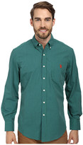 U.S. Polo Assn. Long Sleeve Button-Down Mini Check Shirt w/ Logo on Pocket