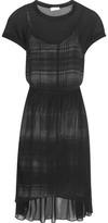 DKNY Layered Chiffon Midi Dress
