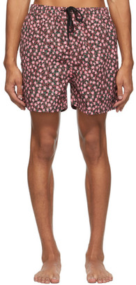 Solid and Striped Pink The Classic Floral Geo Swim Shorts