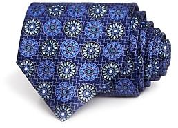 Ermenegildo Zegna Circle Medallion Silk Classic Tie