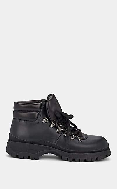 Prada Women's Leather Ankle Boots - Nero