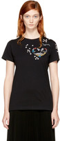 Valentino Black Beaded Tattoo T-Shirt