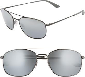 Ray-Ban 60mm Polarized Navigator Sunglasses