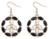 BST Pendant Necklaces BST Nightclubs Hollow Diamond Flower Earrings