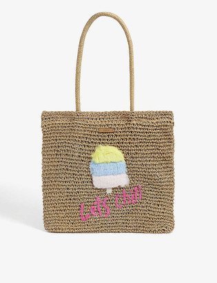 Barts Al Kids Bongo paper-straw ice cream motif tote bag