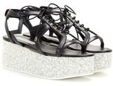 Stella McCartney Lucy Star Faux Leather Platform Sandals