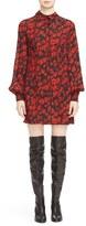 McQ by Alexander McQueen Women's Floral Pintuck Silk Shirt Dress