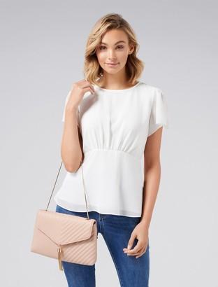Ever New Aria Tassel Foldover Clutch Bag