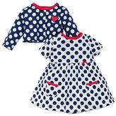 Offspring Baby Girls Polka Dot Cardigan and Dress Set