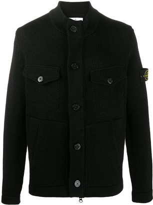 Stone Island Buttoned Knitted Cardigan