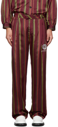 GCDS Red Palazzo Trousers
