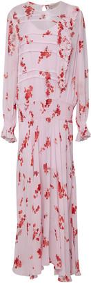 Preen Line Gilda Smocked Floral-Print Chiffon Maxi Dress
