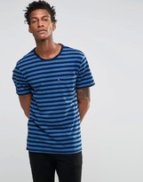 Levis Levi's Stripe Pocket T-shirt Dark Blue Indigo