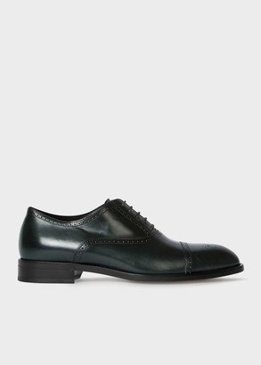 Paul Smith Men's Dark Green Leather 'Sonnet' Oxford Shoes