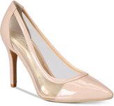 Thalia Sodi Natalia Mesh Pointed-Toe Floral Pumps, Created for Macy's