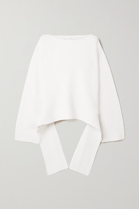 The Row Alyssa Asymmetric Cashmere-blend Sweater - White
