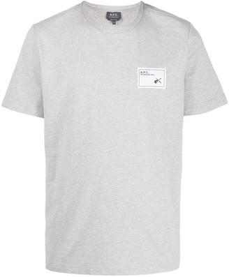 A.P.C. logo patch short-sleeve T-shirt