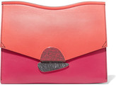Proenza Schouler Curl Medium Color-block Leather Clutch - Coral