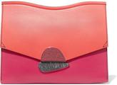 Proenza Schouler Curl Medium Color-block Leather Clutch - one size