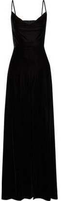 Rachel Zoe Felicitti Draped Stretch-velvet Gown
