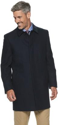 Ike Behar Big & Tall Ike by Classic-Fit Wool-Blend Top Coat