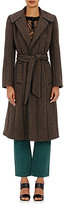 Maison Mayle Women's Tweed & Leather Coat-BLACK, BROWN