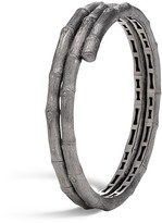 John Hardy Blackened Brushed Sterling Silver Bamboo Double Coil Bracelet - 100% Bloomingdale's Exclusive