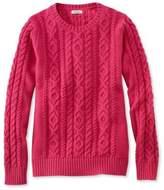 L.L. Bean Double L Mixed-Cable Sweater, Crewneck