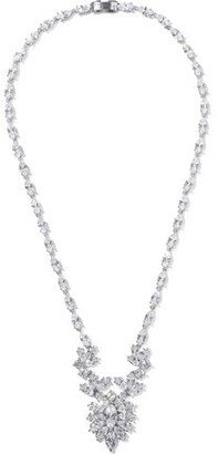 Kenneth Jay Lane Cz By Silver-tone Crystal Necklace