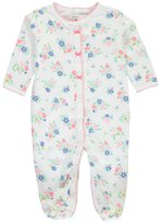 "Carter's Baby Girls' ""Periwinkle Flora"" Footed Coverall"
