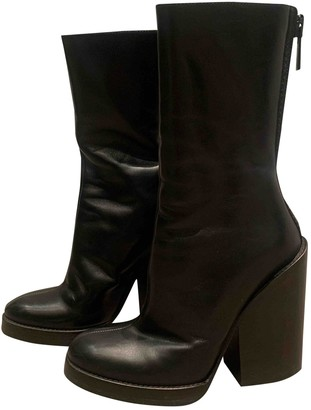 Haider Ackermann \N Black Leather Ankle boots