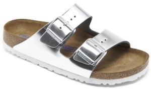 Birkenstock Women's Arizona Natural Leather Metallic Sandals from Finish Line