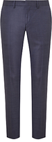 J. Lindeberg Super 140s Wool Comfort Stretch Pindot Slim Suit Trousers, Cornflower