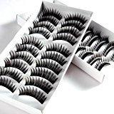 20 Pairs Black Natural Makeup False Fake Eyelash Fake EyeLashes #140