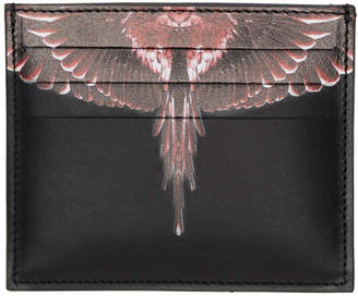 Marcelo Burlon County of Milan Black and Red Ghost Wings Card Holder