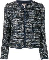 Armani Collezioni tweed zipped jacket - women - Polyester/Spandex/Elastane - 40