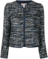Armani Collezioni tweed zipped jacket - women - Polyester/Spandex/Elastane - 42