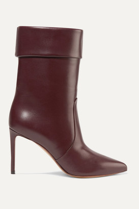 Francesco Russo Leather Boots - Merlot