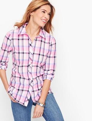 Talbots Classic Cotton Shirt - Serenity Plaid