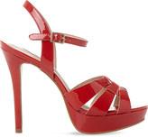 Steve Madden Kaiden patent platform sandals