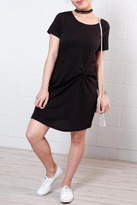 Jacqueline De Yong Knot T Shirt Dress