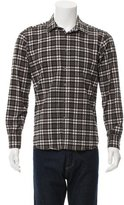 Simon Spurr Check Print Flannel Shirt