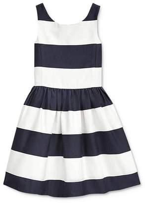 Ralph Lauren Girls' Striped Fit-and-Flare Dress - Little Kid