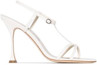 Manolo Blahnik Raqui 105mm leather sandals