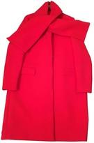 MSGM Red Wool Coats