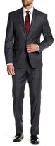 Vince Camuto Grey Notch Lapel Two Button Slim Fit Wool Suit