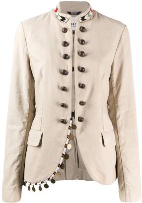 Bazar Deluxe Beaded Mock-Neck Jacket