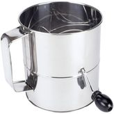 Sur La Table Stainless Steel 8-Cup Crank-Handle Sifter