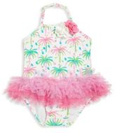 Kate Mack Baby's Palm Print One-piece Swimsuit